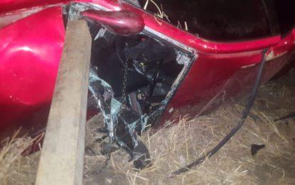Siete lesionados por accidente automovilístico tipo colisión frontal sobre la carr. Fed. 23