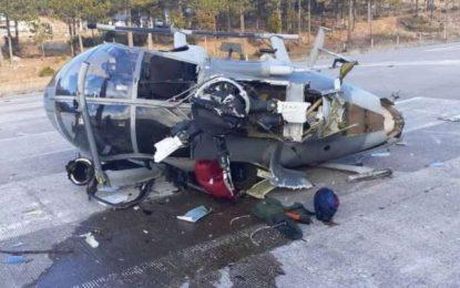 Un helicóptero del Ejército Mexicano se desplomó en Chihuahua