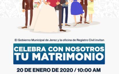 Gobierno Municipal a través de la oficina de Registro Civil invita a la campaña de Matrimonios Colectivos