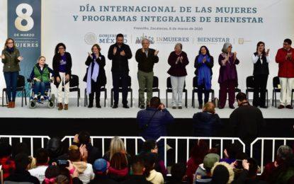 Niñas y Mujeres reciben más de la mitad del presupuesto de programas para Bienestar: Presidente Andrés Manuel López Obrador