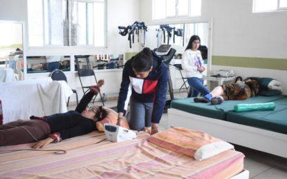 La Unidad Básica de Rehabilitación (UBR) del DIF Municipal de Jerez da atención a un promedio de 100 pacientes desde niños hasta adultos mayores que reciben consultas personalizadas.