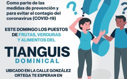 Este domingo el Tianguis Dominical brindará servicio en las instalaciones de la Feria