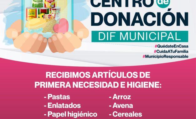 El DIF Municipal de Jerez abre su Centro de Donación con el objetivo de ayudar en especie a quienes más lo necesitan durante la contingencia