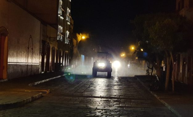Se realiza cuarta ruta de sanitización de calles en Jerez