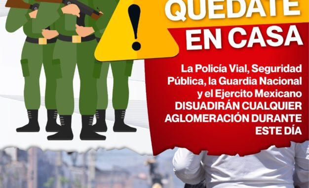 REALIZARÁN OPERATIVO DE SEGURIDAD DURANTE DÍAS SANTOS EN EL MUNICIPIO