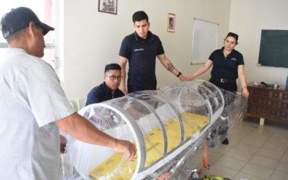 Protección Civil Jerez proporcionó información al municipio de Villanueva sobre la elaboración de cápsulas de traslado para pacientes sospechosos o positivos del virus COVID-19